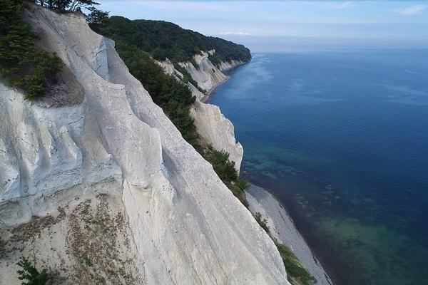 The cliffs at Camp Møns Klint in Denmark